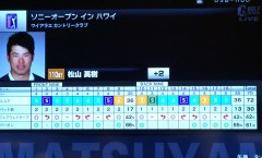 松山英樹選手の2015 ソニーオープン in ハワイ初日結果